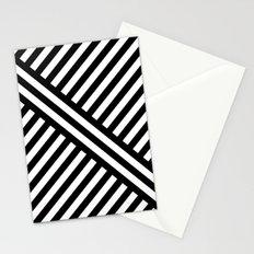 B/W two way diagonal stripes Stationery Cards