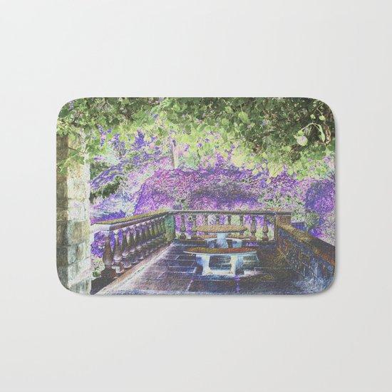 Lavender English Garden Bath Mat