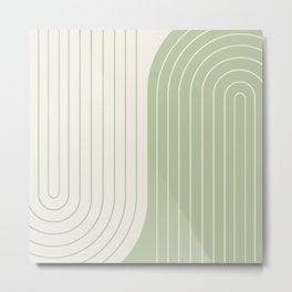 Two Tone Line Curvature XVI Metal Print