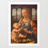 da vinci Art Prints featuring Leonardo da Vinci by Palazzo Art Gallery