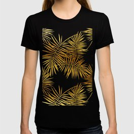 Tropical Palm Fronds in Gold T-shirt
