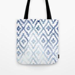 Indigo Ikat Print 3 Tote Bag
