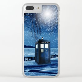 Tardis Clear iPhone Case
