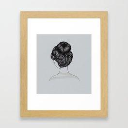 Bun Girl Framed Art Print