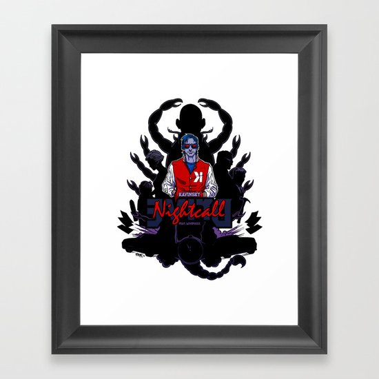 Drive back cover Framed Art Print