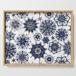 mandala snowflakes Serving Tray