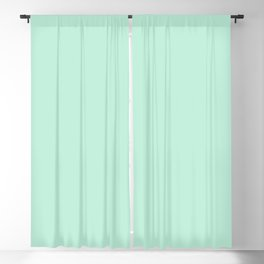 Mint Green Pastel Solid Color Block Blackout Curtain