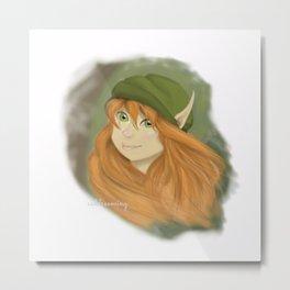 Forest Elf Metal Print