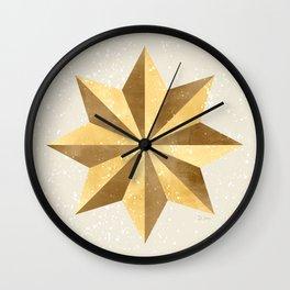 Golden Star Wall Clock