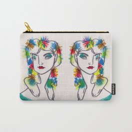Flora in Her Hair Carry-All Pouch