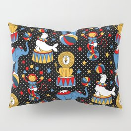 Little Circus Stars on Black Pillow Sham