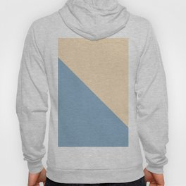 blue and beige triangular background Hoody