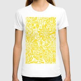 Gen Z Yellow Marigold Lino Cut T-shirt