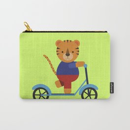 Tiger on Scooter Carry-All Pouch