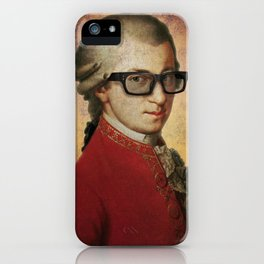 Hipster Mozart iPhone Case
