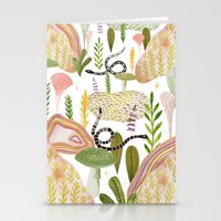 botanical Stationery Cards featuring Botanical Garden by Esthera Preda
