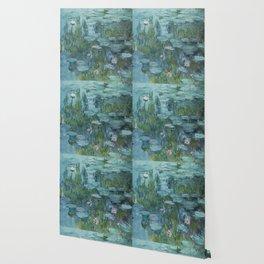Monet, Water Lilies, Nympheas, Seerosen, 1915 Wallpaper