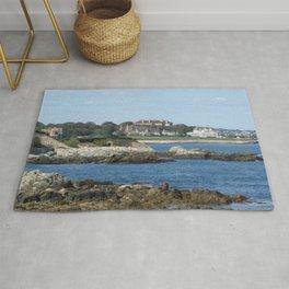 Newport Cliff Walk - Newport Rhode Island by Jeanpaul Ferro Rug