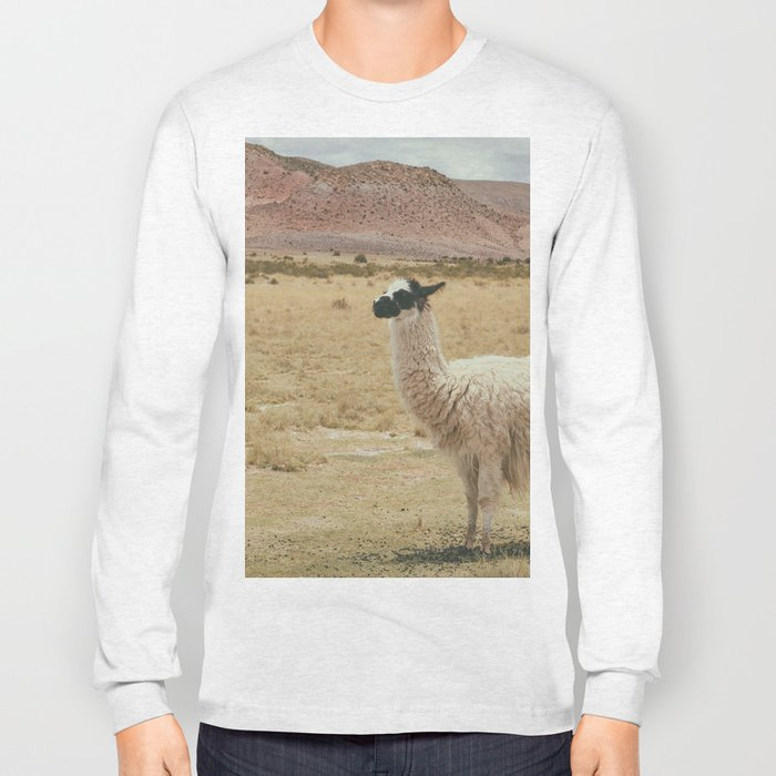 Lama Pampa bolivie Long Sleeve T-shirt