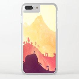 Sundown on Cemetery Hill Clear iPhone Case
