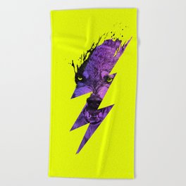 Thunderwolf Beach Towel