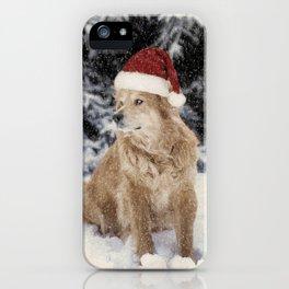 A Golden Christmas iPhone Case