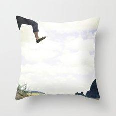 jump. Throw Pillow