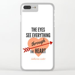the EYES & the HEART Clear iPhone Case