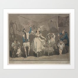 Rowlandson Thomas  Wild Irish or Paddy from Cork with his coat buttoned behind Art Print