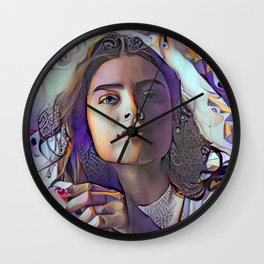 He Made Her Brown Eyes Blue Wall Clock