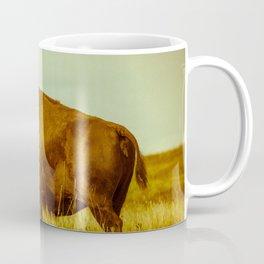 Vintage Bison - Buffalo on the Oklahoma Prairie Coffee Mug