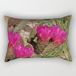 Beavertail Cactus in Bloom - II Rectangular Pillow