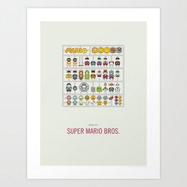 Mario Model Kit Art Print