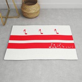 Washington DC Musical Flag Rug