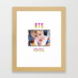 BTS Song IDOL Design - Jin Framed Art Print