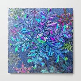 Snowflake Rainbows Winter Dream Metal Print