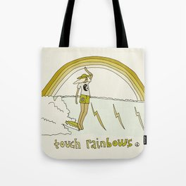 touch rainbows // retro surf art by surfy birdy Tote Bag
