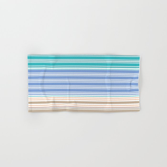 Cool Summer Stripes Hand & Bath Towel