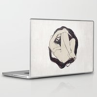 circle Laptop & iPad Skins featuring My Simple Figures: The Circle by Anton Marrast