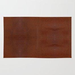 Burnt Orange Leather Rug