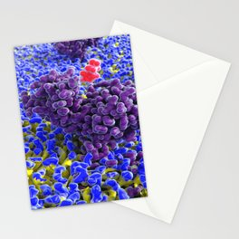 ALLERGIC REACTION MICROSCOPIC VIEW IMAGE MEDICAL LABORATORY SCIENTIST Stationery Cards