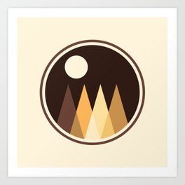 Coffee Sky with Creamy Moon on Capuccino Forest Art Print
