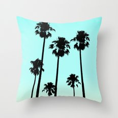 Silhouette Palm trees Throw Pillow