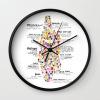 manhattan Wall Clocks featuring Manhattan by Hyesu Lee