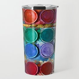 watercolor palette Digital painting Travel Mug