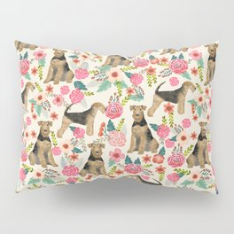 Airedale Terrier dog pattern dog breed pet portrait by pet friendly Pillow Sham