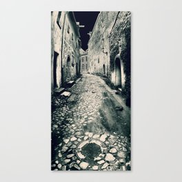 Street in the old town Canvas Print