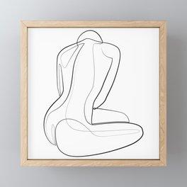 Female body flow abstract  Framed Mini Art Print