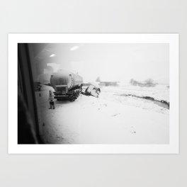 Passing a Crash Art Print