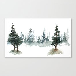 a walk through the woods Canvas Print